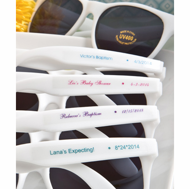 Personalized Sunglasses Favors for Baptism