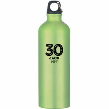 Personalized Aluminum Water Bottles - Birthday
