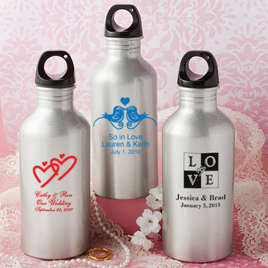 Personalized Water Bottles Wedding