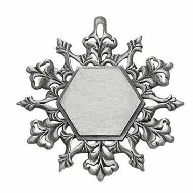 Pewter DIY Snowflake Ornaments