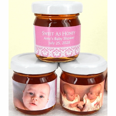 Photo Baptism Honey Jars