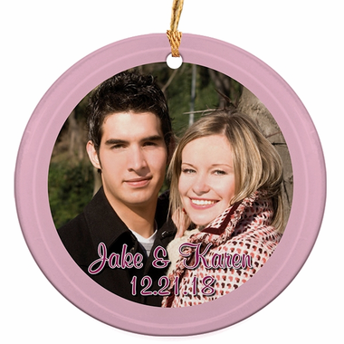 Photo Ornaments Wedding Favors - Glass