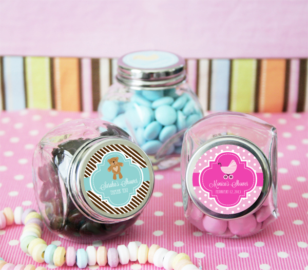 Personalized Baby Shower Favors Jars