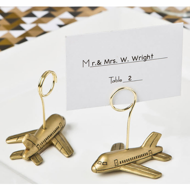 Plane Place Card Holders with Card