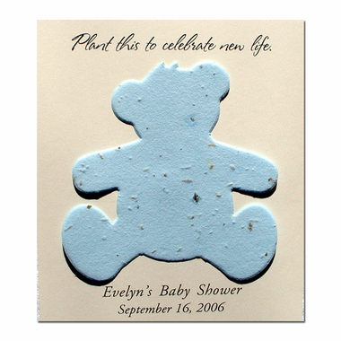 Plantable Teddy Bear Baby Shower Favor