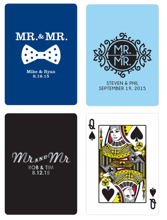Playing Cards Gay Wedding Favors