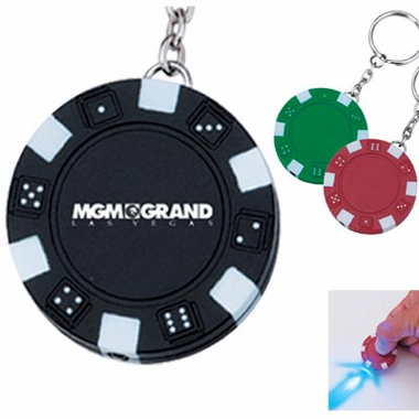 Poker Chip Favor - Keychain with Light