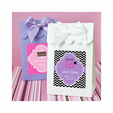 Quinceanera Personalized Favor Bags Candy Boxes- Set of 12