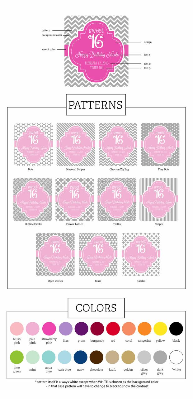 Quinceneara Favor Goodie Bags Boxes- Set of 12