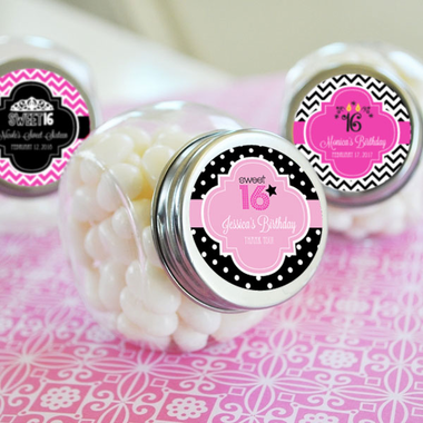 Quineanera Favor - Personalized Candy Jar