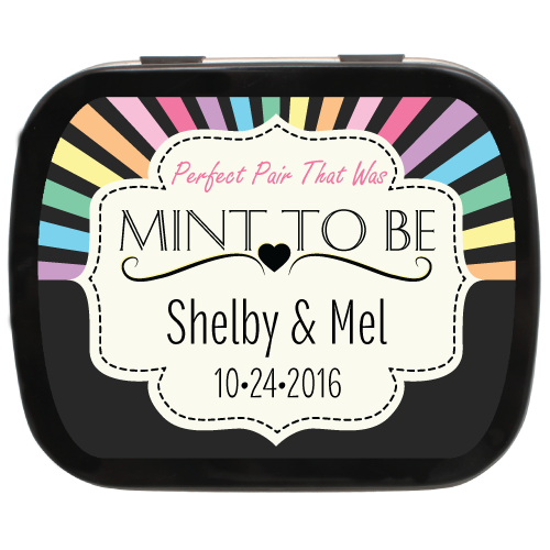 Rainbow Mint Tin Wedding Favors