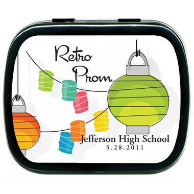 Retro Prom Party Favors Candy Tins