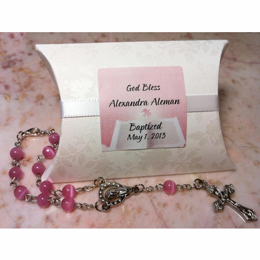 Rosary Favor in Pouch - Sample Includes Shipping