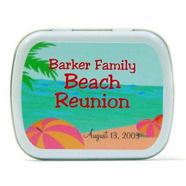 Sea Favors Beach Candy Tins