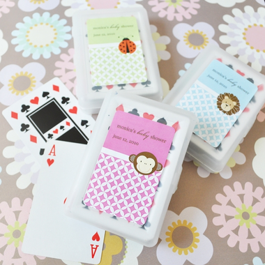 Shower Playing Cards Baby Animal Favors