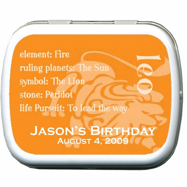 Sign of Leo Party Favors Mint Tins