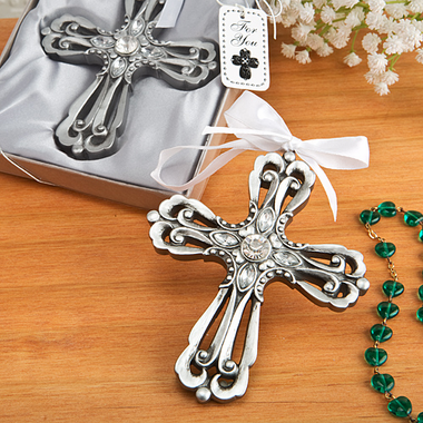 Silver Cross Ornaments