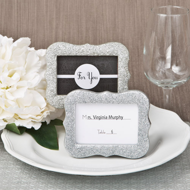 SIlver Place Card Holders Frames