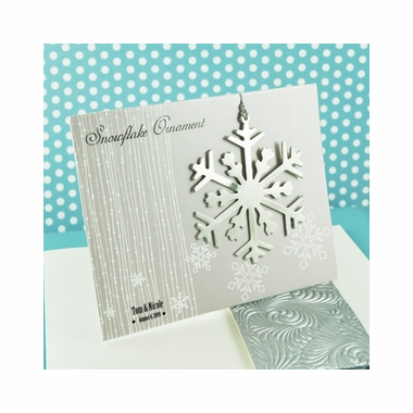 Silver Snowflake Ornament Card