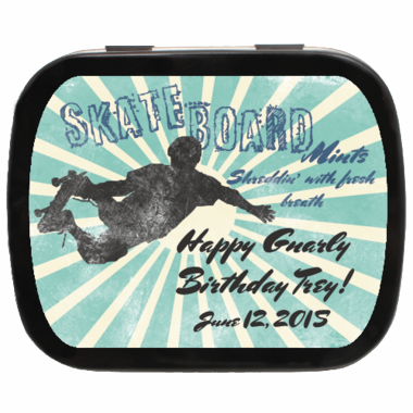 Skateboard Party Favors Theme Mints