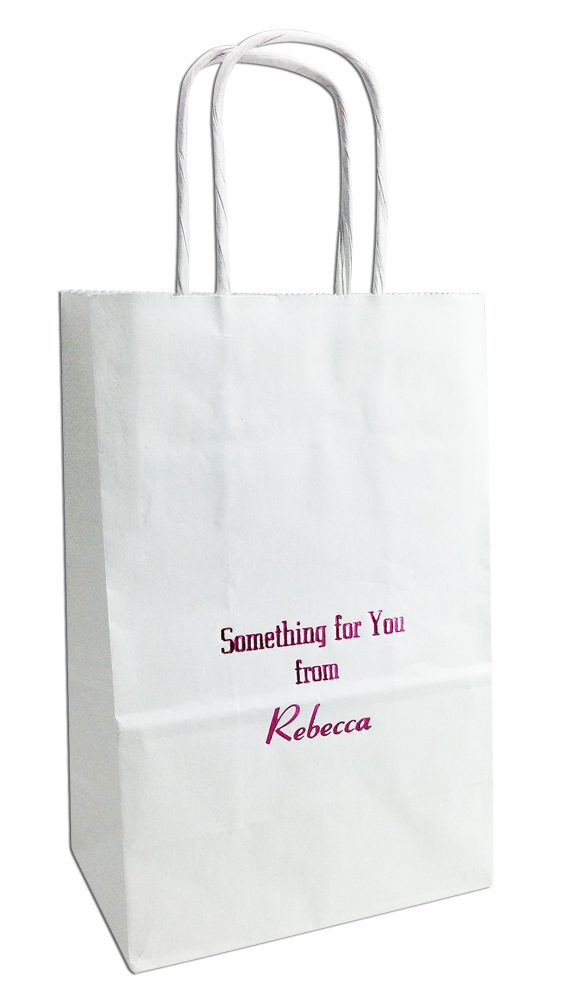 small personalized gift bags set of 25