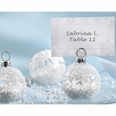 Snowflake Place Card Holders for Winter - Set of 6