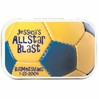 Soccer Ball Theme Mint Tins