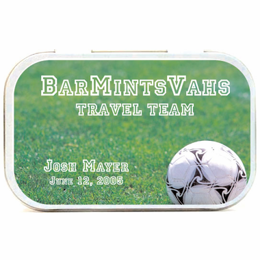 Soccer Field Theme Mint Tins