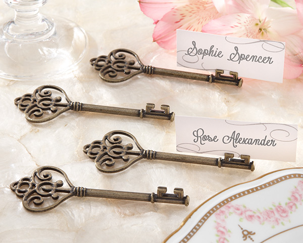 Steampunk Wedding Decorations Key Place Card Holders