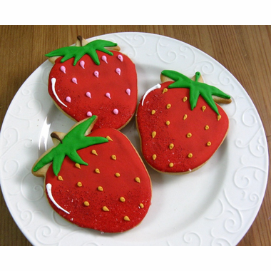 Strawberry Cookies Favor