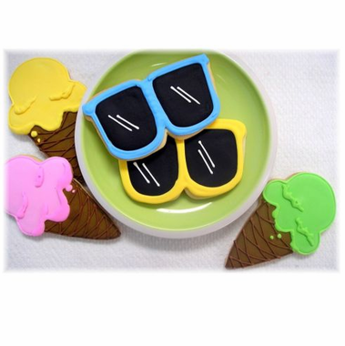 Sunglasses Cookies - Ice Cream Cookies