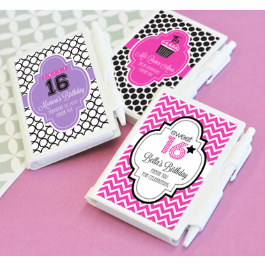 Sweet 16 Favors Notebook