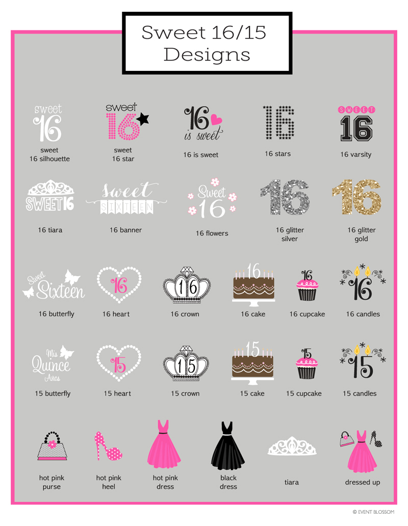 Sweet 16 Goodie Bags Candy Boxes Set Of 12