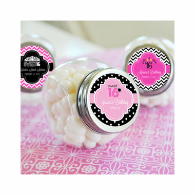 Sweet Sixteen Party Favors Candy Jars