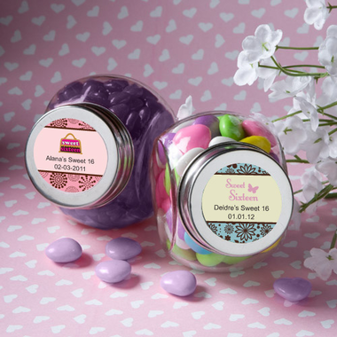 Sweet 16 Favors Candy Jars