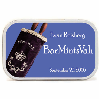 Torah Party Favors Custom Mint Tins