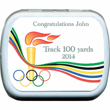 Torch Olympic Party Favors Mint Tins
