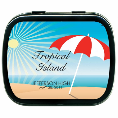 Tropical Prom Personalized Mints Party Favors