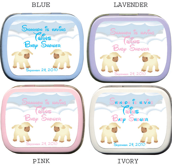 twins baby shower ideas mint tin favors, Baby shower invitation