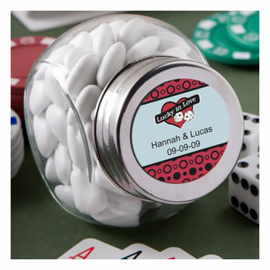 Vegas Mini Candy Jar Favors