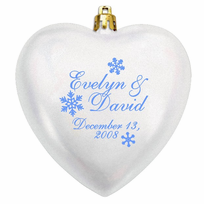 wedding favors christmas ornaments acrylic heart