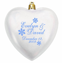 Wedding Favors Christmas Ornaments - Acrylic Heart