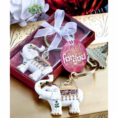 Wedding Favors Indian Elephant Key Chain