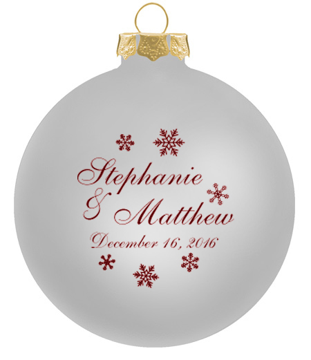 Wedding ornaments glass ball personalized christmas for Customized photo christmas ornaments