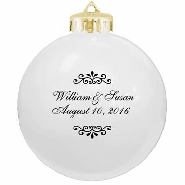 White Wedding Favors Ornaments