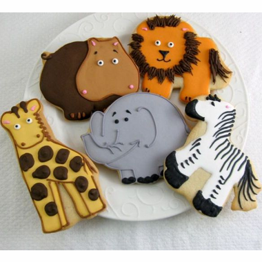 Wild and Farm Animals Baby Shower Decorations Cookies