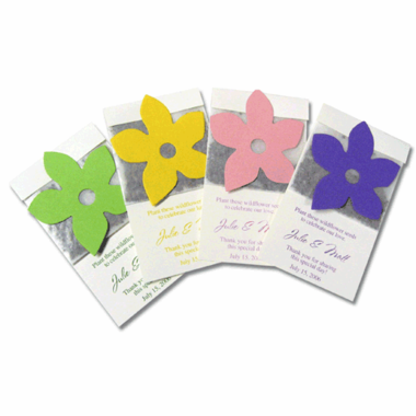 Wildflower Seed Packet Favor