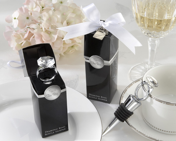 With This Ring Diamond Stopper Favor