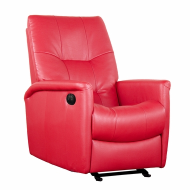Electric glider electric power motion recliner bonded red leather d86999m pp17 gliders rocking - Automatic rocking chair for adults ...