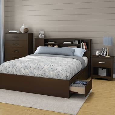 3 piece bedroom set morning dew full mates bed 5 drawer - South shore 4 piece bedroom furniture set ...